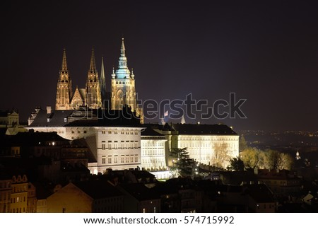 Free Photos Beautiful Prague Gothic Castle In The Night