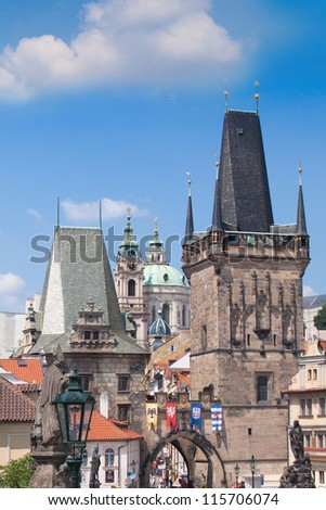 Prague city, one of the most beautiful city in Europe. Charles Bridge
