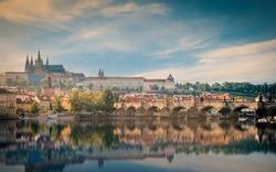 Prague, Czech Republic. Charles Bridge old town ,Cityscape of Prague
