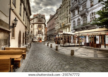 PRAGUE, CZECH REPUBLIC - JULY 1, 2014: The Old Market Square in Prague. World Heritage Site by UNESCO #250767772