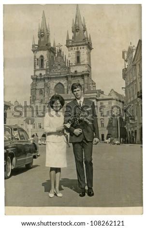 PRAGUE, CZECHOSLOVAK REPUBLIC, CIRCA 1969 - Just Married - circa 1969