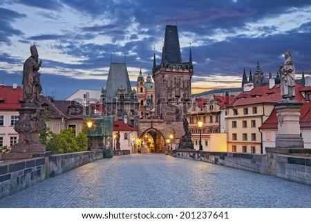 Prague Image of Prague taken from famous Charles Bridge