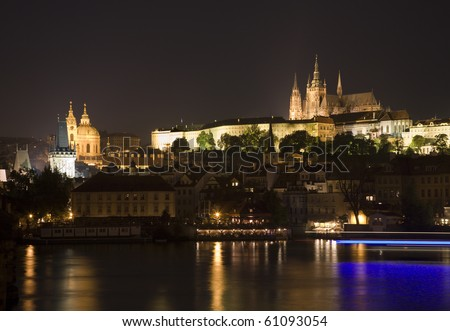 Prague in night - castle