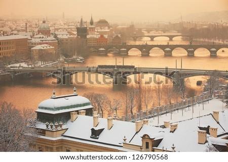 Prague in winter, Czech Republic