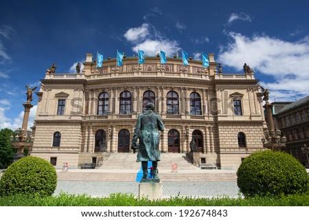 PRAGUE-MAY 12,2014: Prague Spring International Music Festival, Rudolfinum Prague, music auditorium and gallery