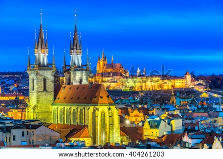 Prague, Night View. Czech Republic