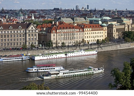 Prague, Old Town and Vltava River - stock photo
