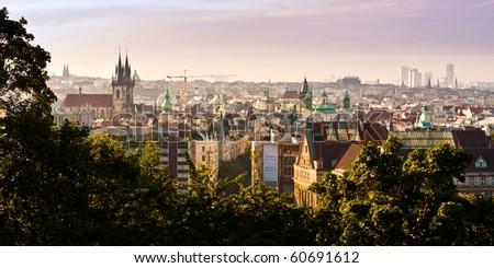 Prague Old Town panorama
