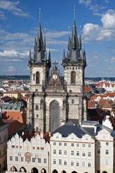 Prague - Old Town Square w Church of Our Lady before Tyn