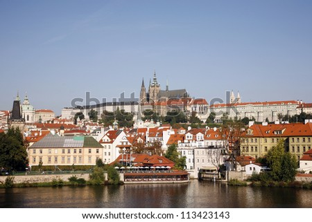 Prague Skyline, include Prague Castle