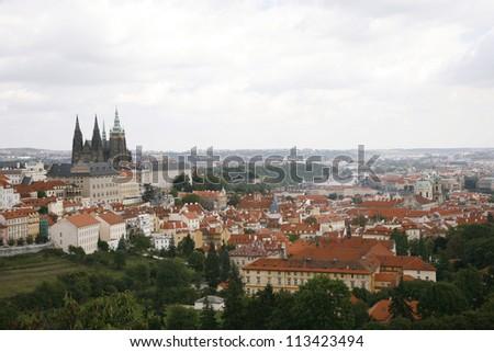 Prague Skyline seen from  Petrin Hill