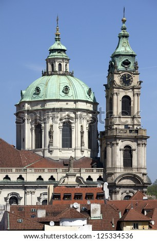 Prague - St. Nicholas cathedral and Lesser Town