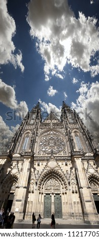 Prague - St. Vitus cathedral in Hradcany