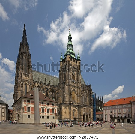 Prague - St. Vitus Cathedral in Hradcany at Prague Castle