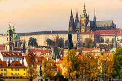 Prague, the Castle and St. Vitus Cathedral. Czech Republic