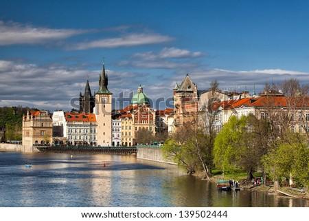 Prague towers near the Charles Bridge