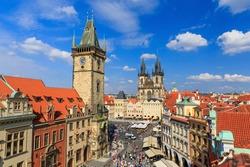 Prague Tyn Cathedral & Clock Tower, Czech Republic