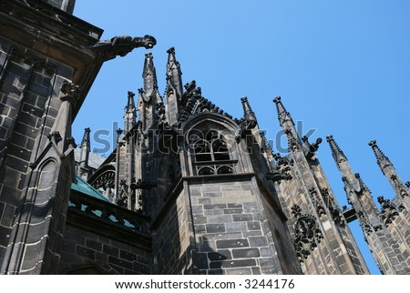 praha architecture Gothic cathedral