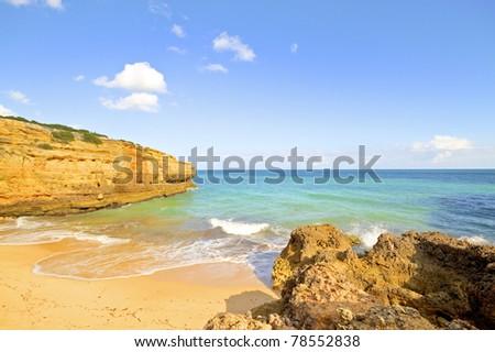 Praia Albandeira in the Algarve Portugal