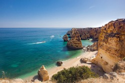 Praia da Marinha/Navy Beach - Algarve. According to Michelin guide it's one of the most beautiful beaches of Portugal, in all of Europe and the World! Awarded with the distinguished