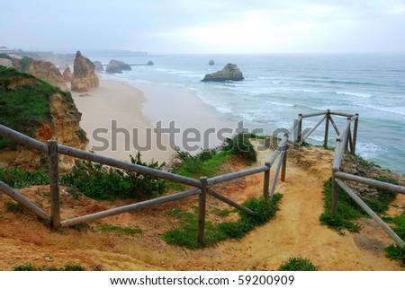 Praia da Rocha, on the Atlantic Ocean in Algarve, southern Portugal.