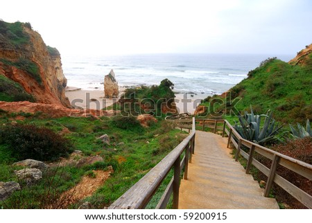 Praia da Rocha, on the Atlantic Ocean in Algarve, southern Portugal.