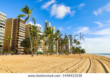 Praia de Boa Viagem, Recife, Pernambuco, Brasil Foto stock ©