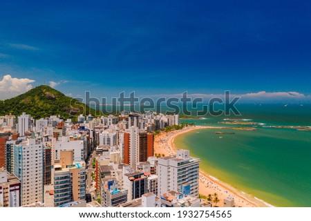 Praia de Itapoã em Vila Velha - Espirito Santo - Brasil Zdjęcia stock ©