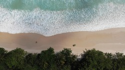 Praia de lopes Mendes , lopes mendes Beach ,brasil drone view from above Ilha Grande