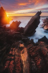 Praia do Abano Sea Stack Formation