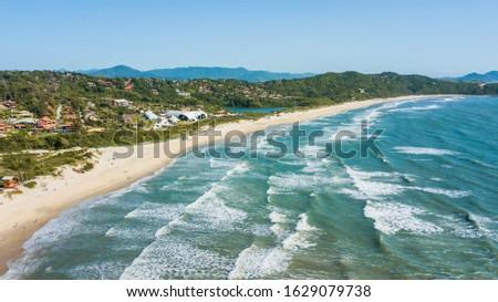 Praia do Rosa - Imbituba - SC. Aerial view of rose beach - Santa Catarina – Brazil