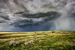 Prairie Storm Canada summer rural major structure Saskatchewan