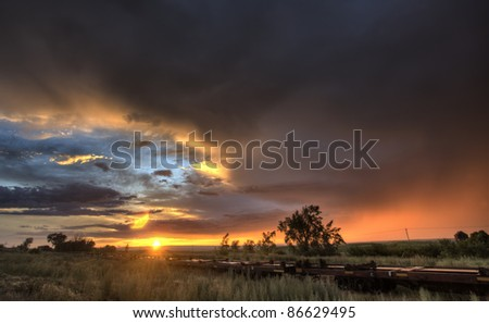 Prairie Sunset Saskatchewan Canada Parkbeg colors beauty