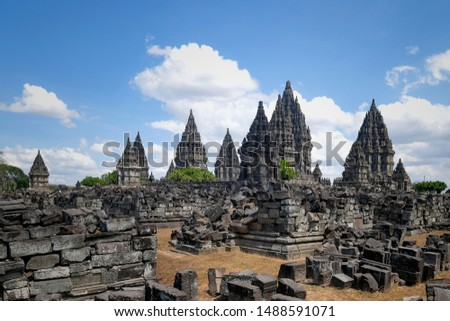 Prambanan Temple, one of the largest Hindu temples in Indonesia. #1488591071
