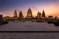 Prambanan, the Majestic 9th-Century Hindu Temple in the Evening