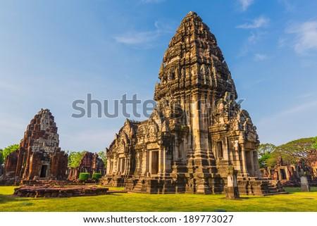 Prasat Hin Phi mai Historical Park Phimai Khmer Sanctuary one of important religious sanctuary korat tha iland