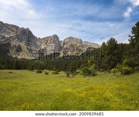 Prat de Cadi in Pyrenees Range, Cerdanya, Catalonia Zdjęcia stock ©