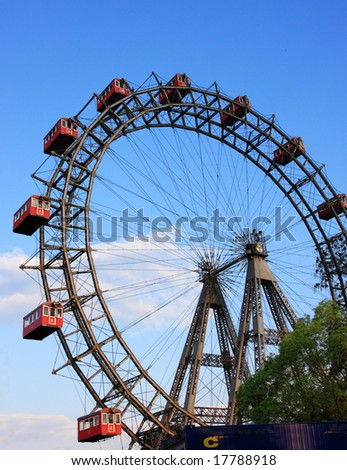 Prater, a historic ferris wheel in Vienna, Austria