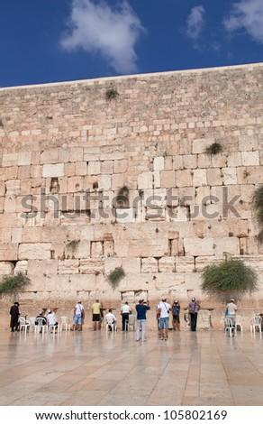Prayer at the wailing wall, Jerusalem, Israel