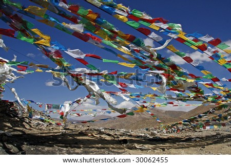Prayer flags in Himalaya