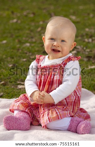 stock photo   praying baby