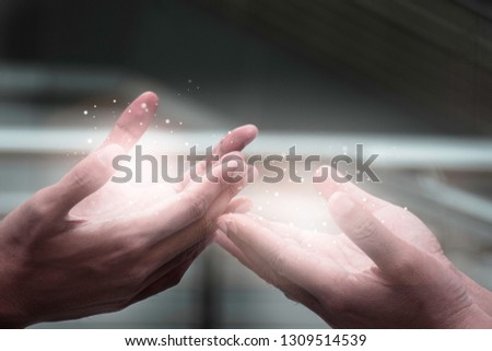 Praying hands for blessing from God.
