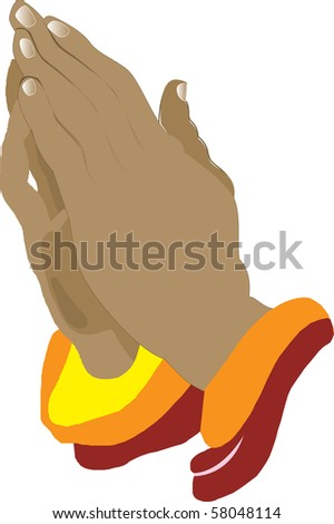 Praying Hands Icon, Illustration, also available in vector format.