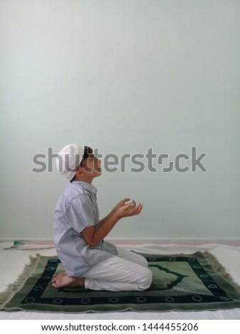 Praying Little Boy Praying Child  #1444455206