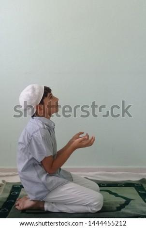 Praying Little Boy Praying Child  #1444455212