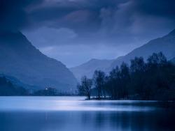 Pre dawn still waters of Llyn Padarn.