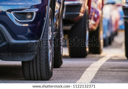 Pre Owned Cars Market. Automotive Sales Industry Theme.