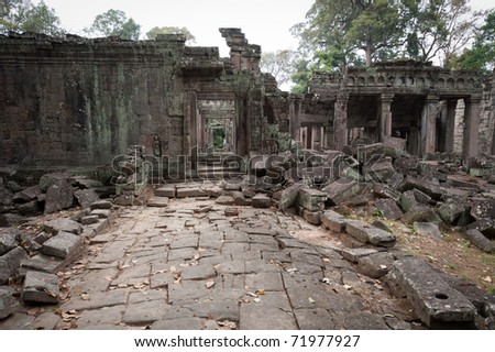 Preah Khan is a temple in the world-heritage complex of Angkor in Siem Reap, Cambodia.