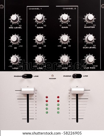 Preamp Mixing Station Knobs