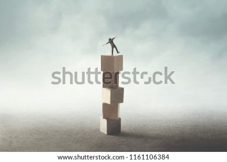 precary condition for businessman, abstract concept